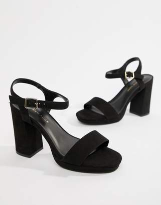 New Look chunky heel barely there sandal