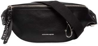 Alexander McQueen Logo leather belt bag