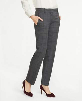 Ann Taylor The Tall Straight Leg Pant In Glen Plaid - Curvy Fit