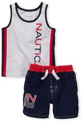 Nautica Infant Boys) Two-Piece Logo Tank & Swim Shorts Set