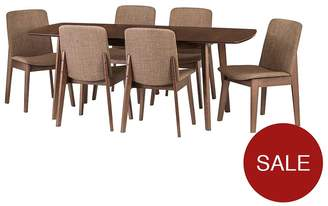 Camilla And Marc Julian Bowen Kensington 150 - 194 Cm Solid Wood Extending Dining Table + 6 Chairs
