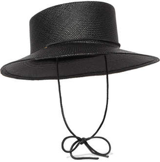 CLYDE Telescope Straw Hat - Black