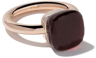 Pomellato 18kt rose & white gold Nudo garnet ring