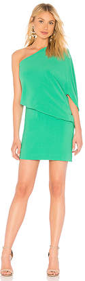 Halston Asymmetrical Sleeve Dress