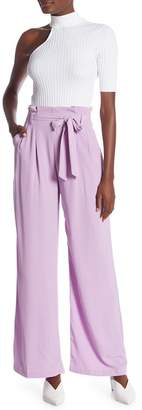 Dance and Marvel Pintucked Wide Leg Crepe Trousers