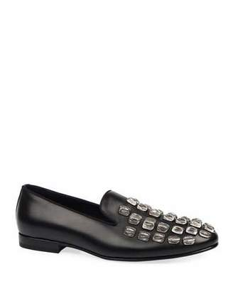 Roberto Cavalli Men's Studded Leather Loafers