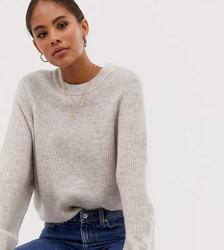 Asos Tall DESIGN Tall fluffy jumper with balloon sleeve