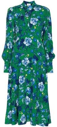 Erdem Ellera Elizabeth Garden print silk dress