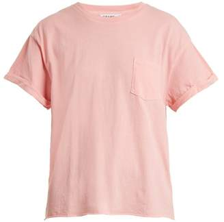 Frame Patch Pocket Cotton Jersey T Shirt - Womens - Light Pink