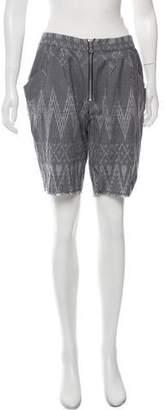 Baja East Printed Knee-Length Shorts