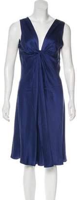 Alberta Ferretti Silk Sleeveless Mini Dress