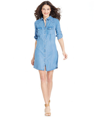 Kut from the Kloth Denim Elbow-Sleeve Shirtdress $98 thestylecure.com