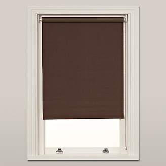 John Lewis & Partners Hessian Blackout Roller Blind, Mocha