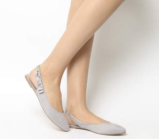 Office Frappe Slingback Bow Flats