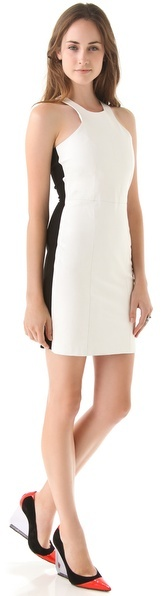 Mason by michelle mason Leather Front Tank Dress