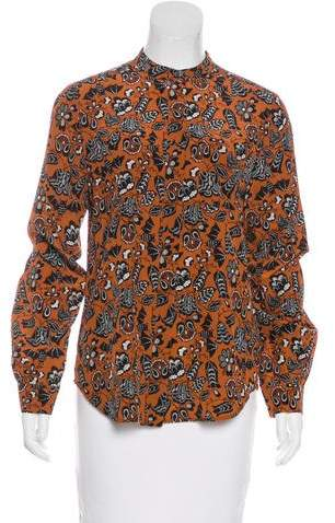 Marc by Marc Jacobs Silk Button-Up Top
