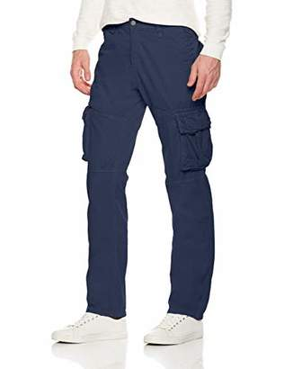 Trimthread Men's Outdoor Sports Standard Fit Multi-Pocket Casual Twill Cargo Work Pant (