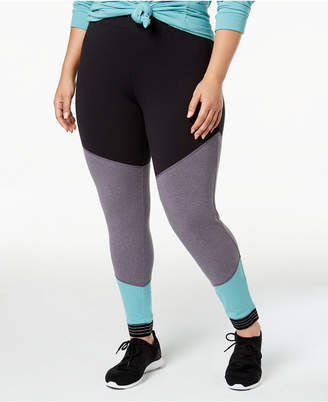 Soffe Curves Plus Size Spirit Colorblocked Leggings