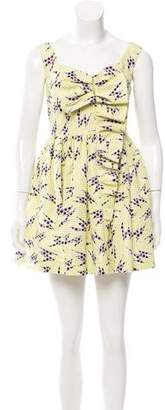 Miu Miu Silk Printed Dress w/ Tags