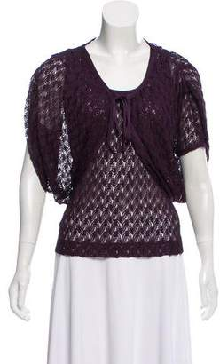 Missoni Lace Short Sleeve Cardigan Set