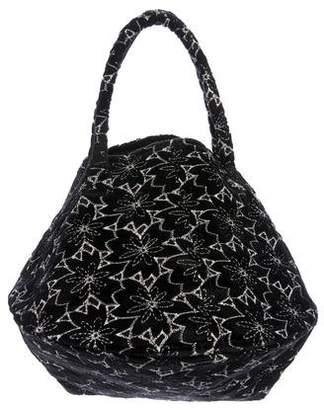 Co Velvet Circle Handle Bag