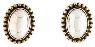 Georg Jensen Beaded Oval Stud Earrings
