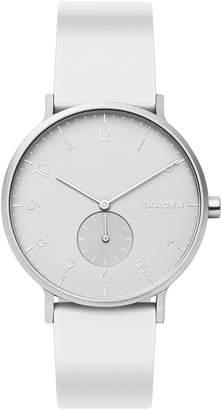 Skagen Aaren Kulor Silicone-Strap Watch
