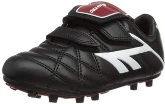Hi-Tec Unisex-Child League Pro Moulded EZ Football Boots - Black (Black/White/Red 021), 10 Child UK (29 EU)