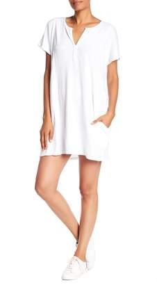 Allen Allen Split Neck Pocket Dress