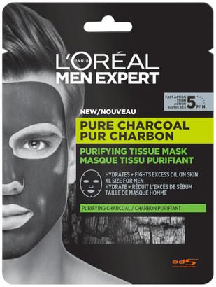 Paris Men Expert Men Expert Pure Charcoal Purifying Tissue Mask 30g