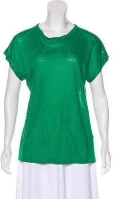 Balmain Oversize Linen T-Shirt