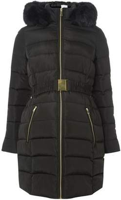 Dorothy Perkins Womens **Maternity Black Luxe Padded Coat