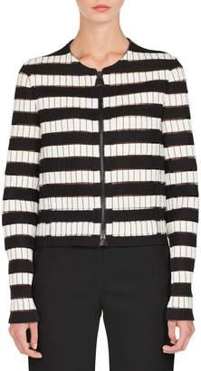 Akris Stripe Wool Blend Jacket