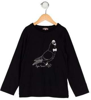Emile et Ida Boys' Embroidered Knit Shirt