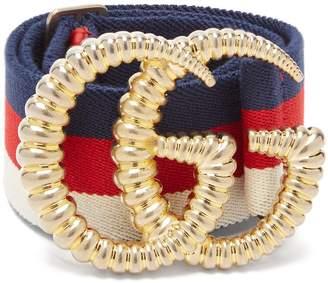Gucci GG striped elastic belt