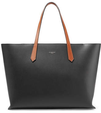 Givenchy Gv Two-tone Leather Tote - Black