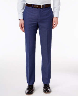 Calvin Klein Men's Extra Slim-Fit Blue Check Dress Pants