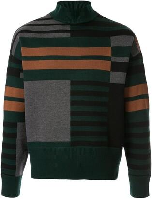 Cerruti geometric knitted jumper