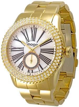 Swarovski Moog Paris Petite Seconde Women's Watch with Dial, Gold Stainless Steel Strap & Elements - M45232-106