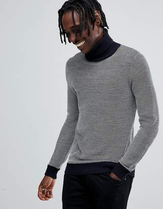 Antony Morato turtleneck knitted sweater in gray