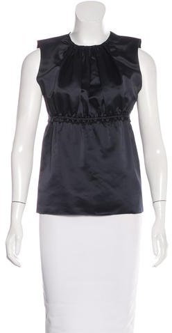prada Prada Satin Sleeveless Top