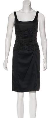 Calvin Klein Ruched Sleeveless Dress