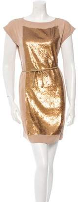 Robert Rodriguez Silk Sequin-Accented Dress w/ Tags