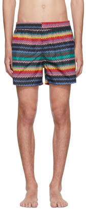 Missoni Black Zig Zag Swim Shorts
