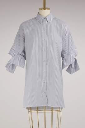 Victoria Beckham Victoria Cotton striped bow sleeve Shirt
