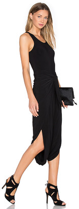 Norma Kamali Racer Diaper Dress in Black $175 thestylecure.com