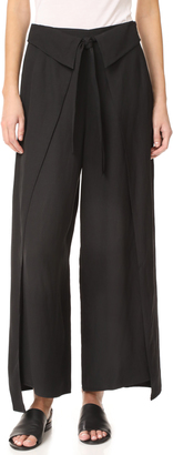 Derek Lam 10 Crosby Wrap Front Wide Leg Pants $550 thestylecure.com