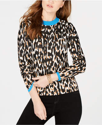 INC International Concepts I.n.c. Animal-Print Sweater, Created by Macy's