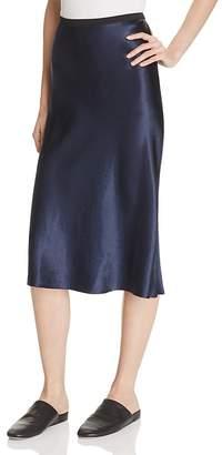 Vince Satin Slip Skirt $255 thestylecure.com
