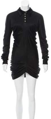 Christian Dior Ruched Silk Mini Dress